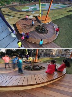 Rakafot School Put Environmental Concerns at the Forefront of Education Park Playground, Outdoor Playground, Playground Ideas, Landscape And Urbanism, Landscape Design, Outdoor Learning Spaces, Outdoor Education, Cool Playgrounds, Plaza Design