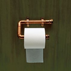 """One for the """"Little Room""""...:)) Copper Piping toliet roll holder"""