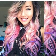 OMG in love with dirty blonde pink and lavender ombré