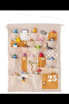 Cloth advent calendar or countdown