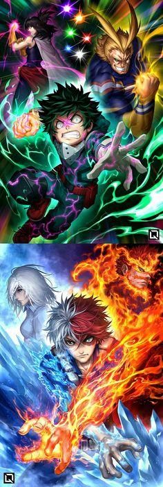 Midoriya und Todoroki - Anime World 2020 My Hero Academia Episodes, My Hero Academia Memes, Buko No Hero Academia, Hero Academia Characters, My Hero Academia Manga, Anime Characters, Manga Anime, Fanarts Anime, Otaku Anime