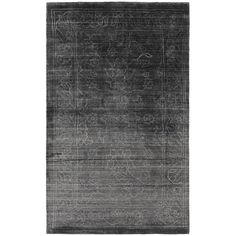 Jaden 4' X 6' Hand Loomed Rug in Charcoal (£735) ❤ liked on Polyvore featuring home, rugs, tufted rugs, hand-loomed rug, hand woven area rugs, dark grey area rug and handmade rugs