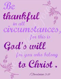 1 Thessolonians 5:18