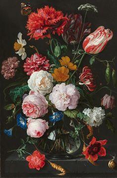 IXXI ® De Heem Stilleven met bloemen in een glazen vaas vanaf €29,50 - Officiële IXXI ® store