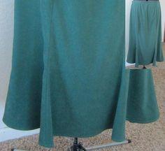 Vintage 90's Handmade Green Moleskin Tulip Skirt, Below the Knee Skirt Comfortable Functional Ladies Fashion Classic Style Work Wear Gift by PizzelwaddelsVintage on Etsy