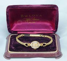 shopgoodwill.com: BULOVA Vintage 14K Gold Ladies Diamond Watch IOB