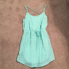 Peppermint Sundress Never worn sundress. Ordered as a large but is right around hips if you are more curvy. Peppermint  Dresses Midi
