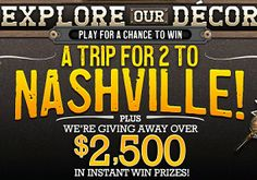 Cracker Barrel Old Country Decor Sweepstakes on http://hunt4freebies.com/sweepstakes