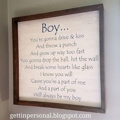 Lee Brice, Son Quotes, Baby Boy Quotes, Smile Quotes, Wisdom Quotes, Country Music Quotes, New Energy, Nursery Signs, Baby Boy Nurseries