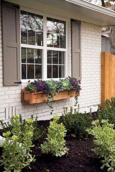 ideas exterior paint colours for house curb appeal fixer upper Exterior Paint Colors For House, Paint Colors For Home, Exterior Colors, Exterior Design, House Shutter Colors, Diy Exterior, Exterior Homes, Brick Design, Paint Colours