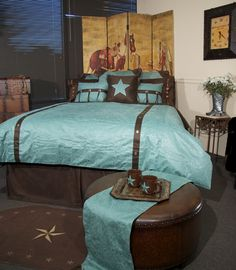 Western Cowboy Duvet, love the color of this one