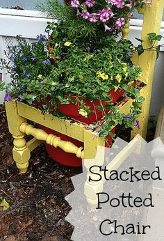 Stacked Potted Chair