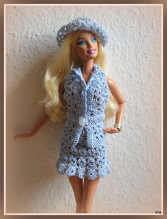 Barbie doll in crochet outfit