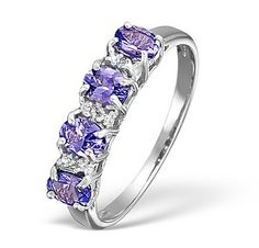 Tanzanite And Diamond White Gold Ring - Item Tanzanite Jewelry, Tanzanite Ring, Tanzanite Engagement Ring, Engagement Rings, 24th Wedding Anniversary, Diamond Stores, White Gold Rings, Birthstones, Gemstones