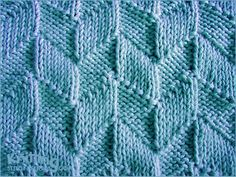 Parallelogram stitch pattern - Knit and purl stitches Knit Purl Stitches, Knitting Stiches, Knitting Charts, Loom Knitting, Knitting Patterns Free, Knit Patterns, Stitch Patterns, Free Pattern, Pattern Design