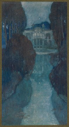 https://flic.kr/p/uZTby2 | 'In the garden of the summer palace all was silence and solitude.' | Stories from the Arabian nights retold by Laurence Housman; with drawings by Edmund Dulac (London: Hodder and Stoughton, 1907).
