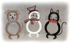 Horse Shoe Dog - Snowman - Cat.jpg (640×403)