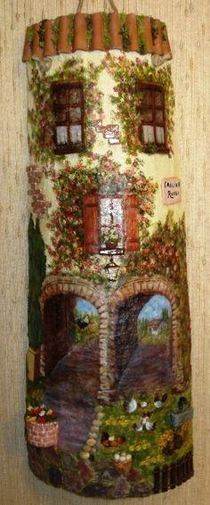 vecchia tegola decorata decoupage 3d - Pesquisa Google