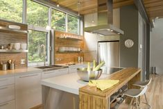 Kitchen in the nature Kitchen Pantry Cabinets, Custom Kitchen Cabinets, Custom Kitchens, Kitchen Cabinet Design, Kitchen Interior, Home Kitchens, Cute Kitchen, New Kitchen, Kitchen Reno