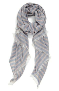 stripe fringe scarf / nordstrom