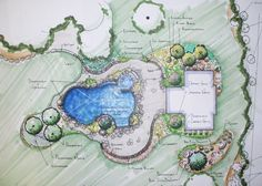 lanscape grouping plans | Park Landscape Design Container Images