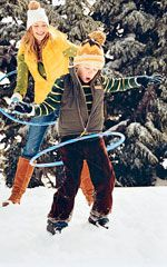 Here's hoping we have snow this year!  20+ Fun Activities to Do in the Snow: Hoop It Up (via Parents.com)