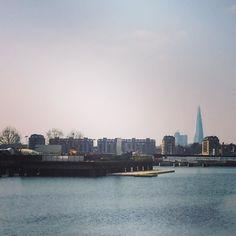 The Shard viewed from Canary Wharf. #thisislondon #lom #theshard #london #londononly #instalondon #iglondon #igerslondon #spring #canarywharf by alanwbennett