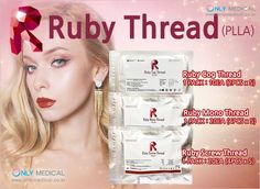 ♡ PLLA Thread lifting : Ruby Thread (PLLA) ♡  ◈ PLLA : Poly-L-Lactic Acid  ▷ Type : Ruby Cog Thread (PLLA)/ Ruby Mono Thread (PLLA)/ Ruby Screw Thread (PLLA)  ★ Effect : Lifting & Wrinkles Removal Thread Lift, Lactic Acid, Wrinkle Remover, How To Remove, Medical, Type, Medicine, Med School, Active Ingredient