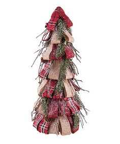 Look what I found on #zulily! 16.5'' Patchwork Tree Décor #zulilyfinds