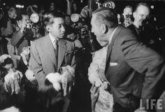 Japanese Prince Akihito with Walt at Disneyland in September 1960.
