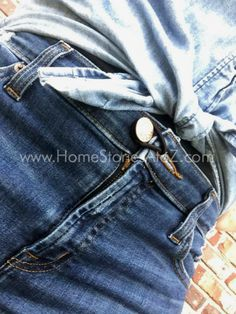 Fashion hack, life hack. Great tip for too-tight pants.