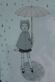 carte parapluie minimel affiche enfant_