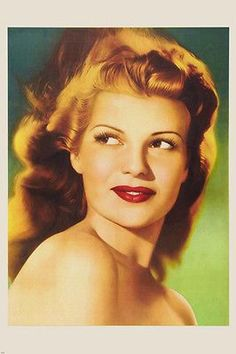 RITA HAYWORTH HEAD SHOT poster SIDE ANGLE beautiful retouched RARE 24X36 Brand New. 24x36 inches. Will ship in a tube. Reproduction of aged original vintage art print. Great wall decor art print at a