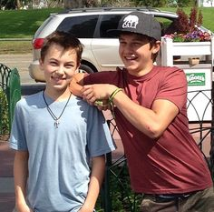 """Gavin and Hayden (Jude and Connor on """"The Fosters"""")"""