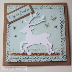 Joulukortti Poro Christmas Card Reindeer