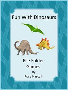 Fun With Dinosaurs File Folders Games for Pre-K, K and Special Education-Dinosaurs have always been a fascination for children. The Dinosaur graphics used in this packet will satisfy that fascination and provide fun while learning. Fun With Dinosaurs File Folder Games consists of 29 pages and makes 6 printable file folder games.