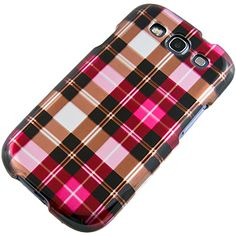 #Plaid Hot Pink Protector Case for #Samsung Galaxy S III $9.99 From #DayDeal