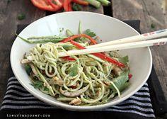 The Urban Poser:: RAW Noodles & Veggies W/RAW Asian Pesto Sauce (Paleo, RAW, Vegan, GAPS)