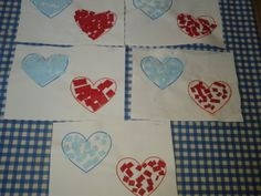 Valentijn-hartjes - knip- en plakoefening - sorteeroefening