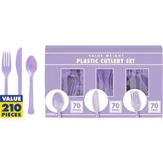 Lavender Cutlery Set 210pc (9.99)