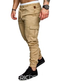 New 2018 Brand Casual Joggers Solid Color Pants Men Cotton Elastic Trousers Military Style Army Cargo Pants Mens Leggings Mens Work Pants, Mens Trousers Casual, Work Trousers, Cargo Pants Men, Slim Fit Trousers, Jogger Pants, Casual Pants, Men's Pants, Harem Trousers