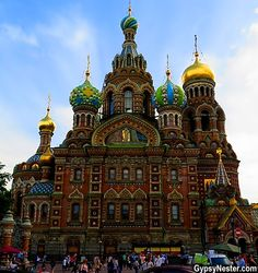 The Church of Our Savior on Spilled Blood in St. Petersburg, Russia! It's really groovy on the inside, too. Look-> http://www.gypsynester.com/homeland.htm