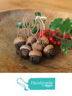 Acorn Ornaments made with Rusty Jingle Bells & Acorn Caps, Rustic, Woodland from Stone House Crafts https://www.amazon.com/dp/B01GFZK99A/ref=hnd_sw_r_pi_awdo_COPeybBJ32VZN #handmadeatamazon