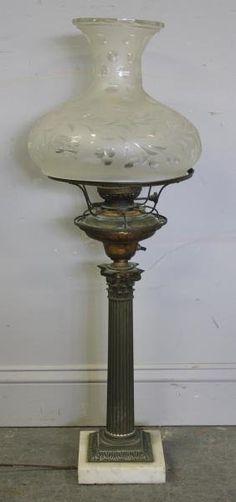 Antique Sinumbra (sprem oil) Lamp with original shade Brass Lantern, Lantern Lamp, Candle Lamp, Lanterns, Antique Oil Lamps, Old Lamps, Moroccan Lamp, Kerosene Lamp, Vintage Market