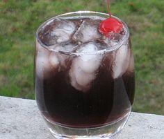 Purple Haze     (1.5 oz. Vodka   1.5 oz. Chambord   1 oz. Sweet/Sour   2 oz. Cran-Grape Juice   Cherry for garnish)
