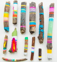 Painted Sticks  Fun activity for kids!  Especially with all of the wood laying around my yard!