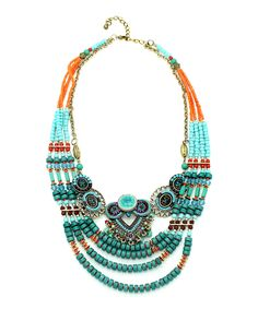 Green Piper Necklace by Eye Candy LA #zulily #zulilyfinds