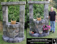 Styrofoam Sculpters | Large foam sculpture of a wishing well, custom carved EPS with coating