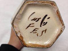 Vintage Moroccan FES Vase Art Pottery Handpainted por ssmith7157