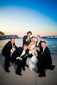 Bride with Groomsmen photo